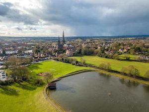 aerial-view-lichfield-birmingham