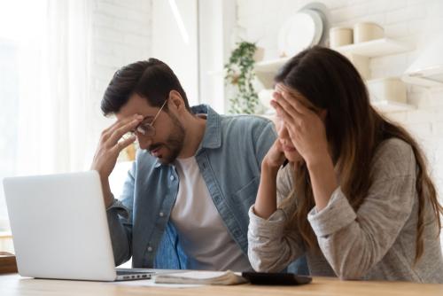 Stressed Couple Seeking Mortgage