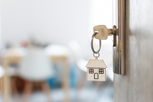 House Keychain in Door